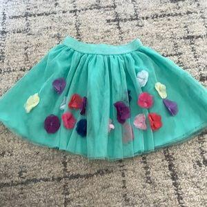 Mint green floral tutu/skirt